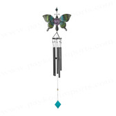 "Black Gem Chime W/Green Butterfly - 46""L GS98826"