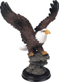 """Eagle Perched On Rock, 7""""H GS54052"""