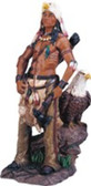 "Native American Warrior & Eagle Western Figurine, 17""H GS11311"