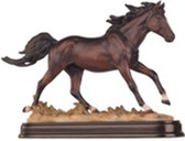 "Horse Figurine Dark Brown, 6""H GS11480"
