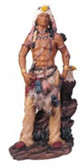 "Native American With Eagle  Western Figurine, 11""H GS11312"