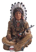 "Indian Sitting 14""H GS11658"