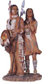 "Native American Couple Western Figurine, 13""H GS11334"