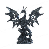 "Black Dragon Figurine 8""H GS71431"
