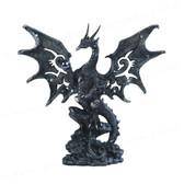 "Black Dragon Figurine 8""H GS71431"