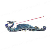 "Dragon Incense Burner, Blue 12""W GS71435"