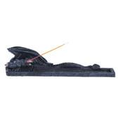 "Dragon Incense Burner, Black 10""W GS71243"