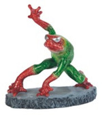 "Frog, Green W/Red Feet 6""H GS61172"