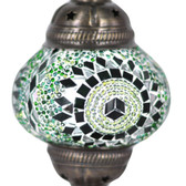 Turkish Mosaic Lamp Shade - B2 - Green - Style 1