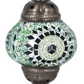 Turkish Mosaic Lamp Shade - B2 - Green - Style 1