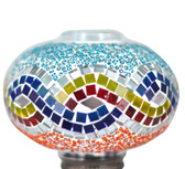 Turkish Mosaic Lamp Shade - B3 - Rainbow - Style 1