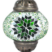 Turkish Mosaic Lamp Shade - B2 - Green - Style 2