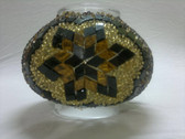 Turkish Mosaic Lamp Shade - B3 - Amber - Style 2