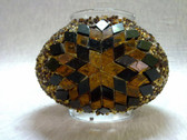 Turkish Mosaic Lamp Shade - B3 - Amber - Style 3