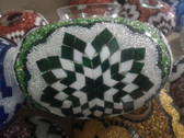 Turkish Mosaic Lamp Shade - B3 - Green - Style 1