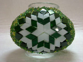 Turkish Mosaic Lamp Shade - B3 - Green - Style 2