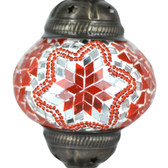 Turkish Mosaic Lamp Shade - B2 - Orange - Style 2