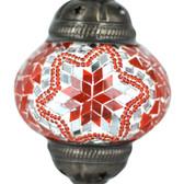Turkish Mosaic Lamp Shade - B2 - Orange - Style 2