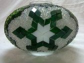 Turkish Mosaic Lamp Shade - B3 - Green - Style 3