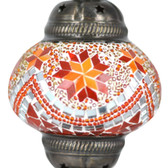 Turkish Mosaic Lamp Shade - B2 - Orange - Style 3