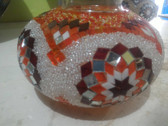 Turkish Mosaic Lamp Shade - B3 - Orange - Style 2