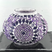 Turkish Mosaic Lamp Shade - B2 - Purple - Style 1
