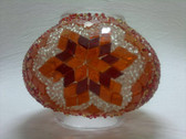 Turkish Mosaic Lamp Shade - B3 - Orange - Style 3
