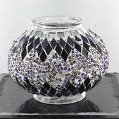 Turkish Mosaic Lamp Shade - B2 - Purple - Style 2