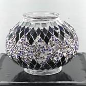 Turkish Mosaic Lamp Shade - B2 - Purple - Style 2