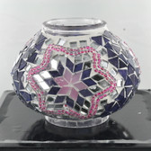 Turkish Mosaic Lamp Shade - B2 - Purple - Style 3