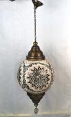 "Giant Turkish Mosaic Lamp 32"" X 25"""