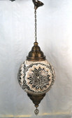 "Giant Turkish Mosaic Lamp 32"" X 25"""