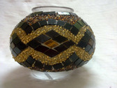 Turkish Mosaic Lamp Shade - B2 - Amber - Style 1