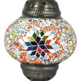 Turkish Mosaic Lamp Shade - B2 - Rainbow - Style 1