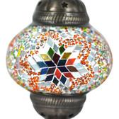 Turkish Mosaic Lamp Shade - B2 - Rainbow - Style 1