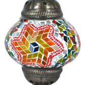 Turkish Mosaic Lamp Shade - B2 - Rainbow - Style 2