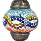 Turkish Mosaic Lamp Shade - B2 - Rainbow - Style 3
