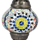 Turkish Mosaic Lamp Shade - B2 - Rainbow - Style 4