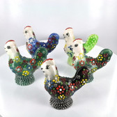 Small Nimet Porcelain Rooster (Assorted Colors & Patterns)