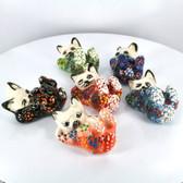 Tummyrub Extra Small Nimet Porcelain Cat (Assorted Colors & Patterns)