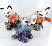 Playing Large Nimet Porcelain Cat (Assorted Colors & Patterns)