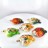Small Nimet Porcelain Turtle (Assorted Colors & Patterns)