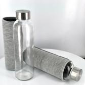 "16oz Glass Bottle w/ Sleeve 9"" Tall"