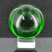 CR7114 60GMM Green Crystal Ball W/ Base