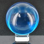Aqua Crystal Ball W/ Base CR7114 80BMM