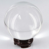 100MM Quartz Crystal Ball w/ Stand