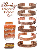 Magnetic Copper Bracelet, Assorted Styles