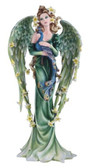 """Angel, GN w/ Peacock 21 1/2""""H"""