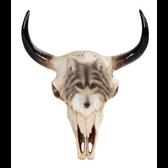 """11"""" Buffalo Skull Wall Plaque 11750"""