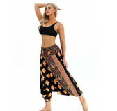 Golden Solar Elephants Latern Harem Pants (One Size) YCL-034